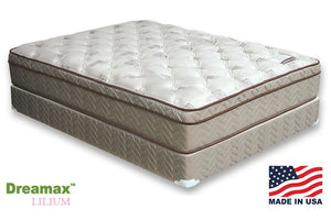 "DM318 Lilium Euro Pillow Top 13"" Innerspring Queen Mattress"