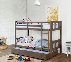 CM-BK633GY-TT - Emilie Twin over Twin Bunk Bed