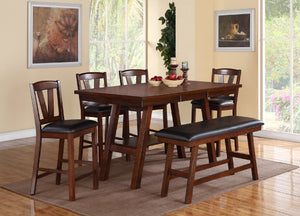 F2273 - Counter Height Dining Table with 4 Chairs and 1 Bench