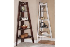 F4038 Walnut Finish Corner Shelf