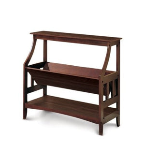 F4620 Adel Walnut Finish Contemporary Wall Shelf
