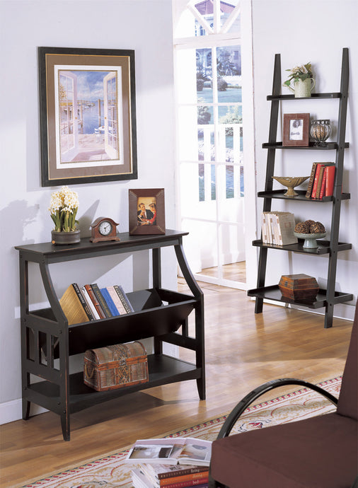 F4626 Adel Black Finish Contemporary Magazine Table