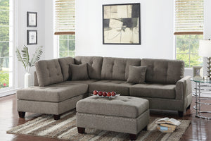 F6504 - Liam Reversible Sectional with Ottoman