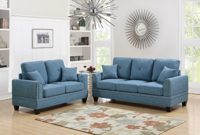 F6508 - Niki 2-PCs Sofa and Loveseat Set