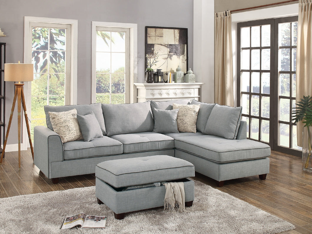F6543 - Clara Sectional with Ottoman