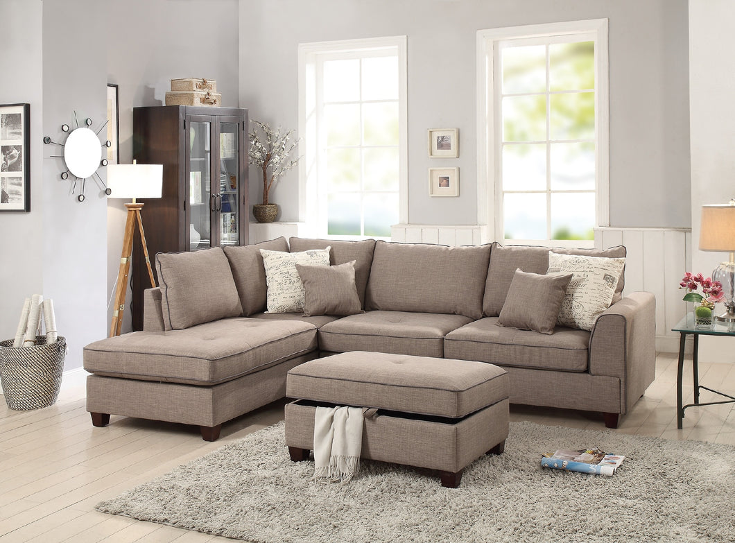 F6544 - Clara Sectional with Ottoman