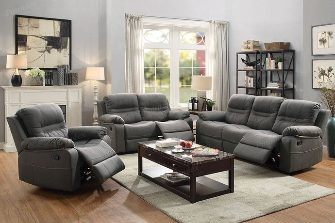 F6699 - Slate Blue Recliner Sofa