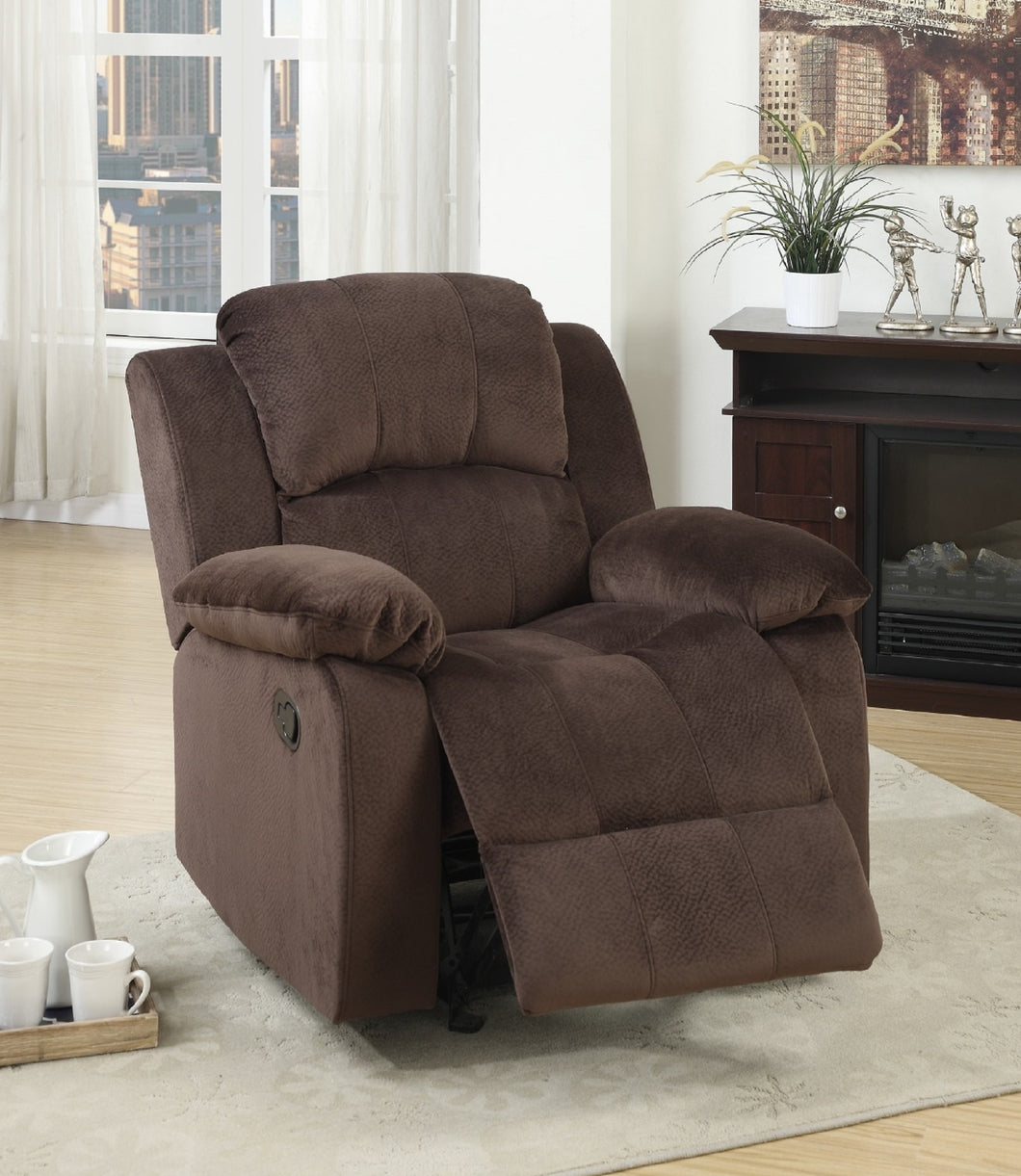 F6713 - Chocolate Rocker Recliner