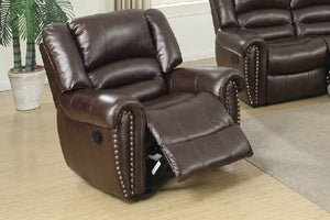 F6755 - Brown Glider Recliner