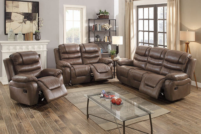 F6757 - Dark Coffee Recliner Sofa