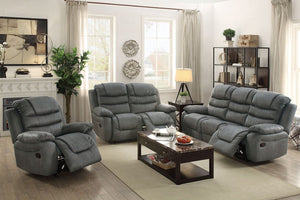 F6760 - Slate Grey Recliner Sofa