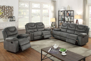 F6766 - Slate Grey Recliner Sofa