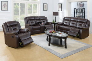 F6795 - Dark Brown Recliner Sofa