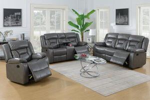 F6798 - Grey Recliner Sofa