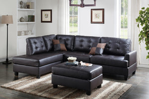 F6855 - Jax Reversible Sectional with Ottoman