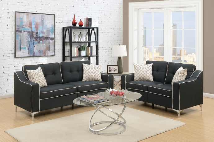 F6891 Carla 2-PCs Sofa Loveseat Set