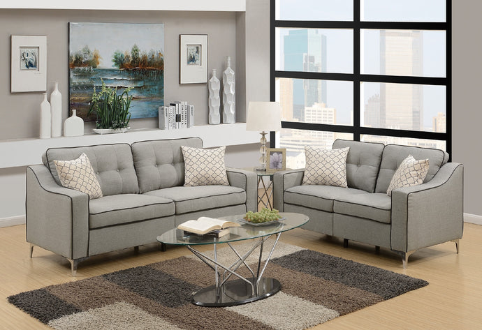 F6892 Carla 2-PCs Sofa Loveseat Set