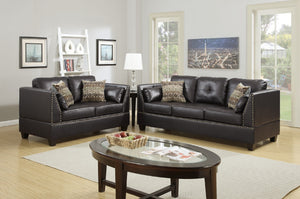 F6915 - Nicole 2-PCs Espresso Sofa and Loveseat
