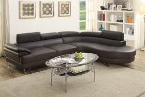 F6969 - Dominic Espresso Sectional Sofa