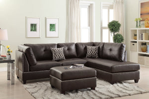 Maya 3-PCs Reversible Sectional Sofa Set F6973