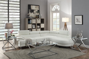 F6985 - Dominic White Sectional Sofa