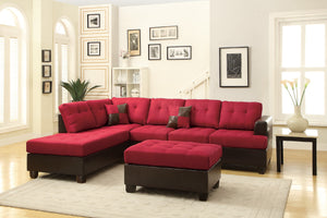 F7601 - Dave Reversible Sectional with Ottoman