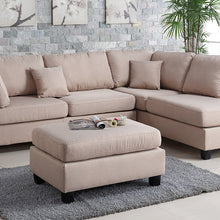 F7605 - Lena 3-PCs Sectional Sofa with Ottoman