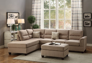 F7614 - Fano Reversible Sectional with Ottoman