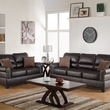 F7878 - Travis 2-PCs Espresso Sofa and Loveseat