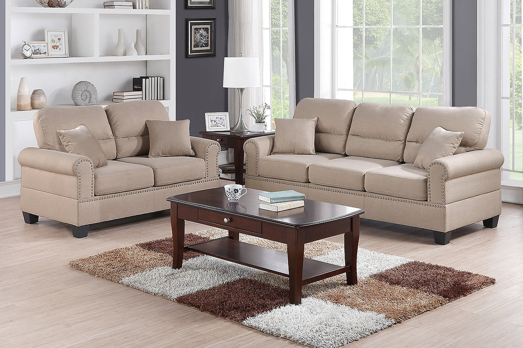 F7879 - Travis 2-PCs Sofa and Loveseat Set