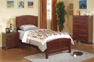 F9207 Stanton Brown Finish Twin Bed