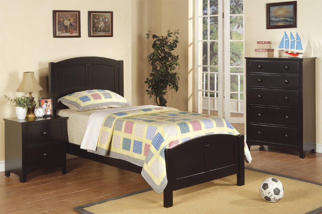 F9208 Stanton Black Finish Twin Bed