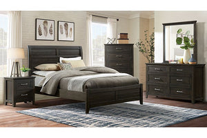 FOA7916 - Alaina Dark Walnut Queen Bed