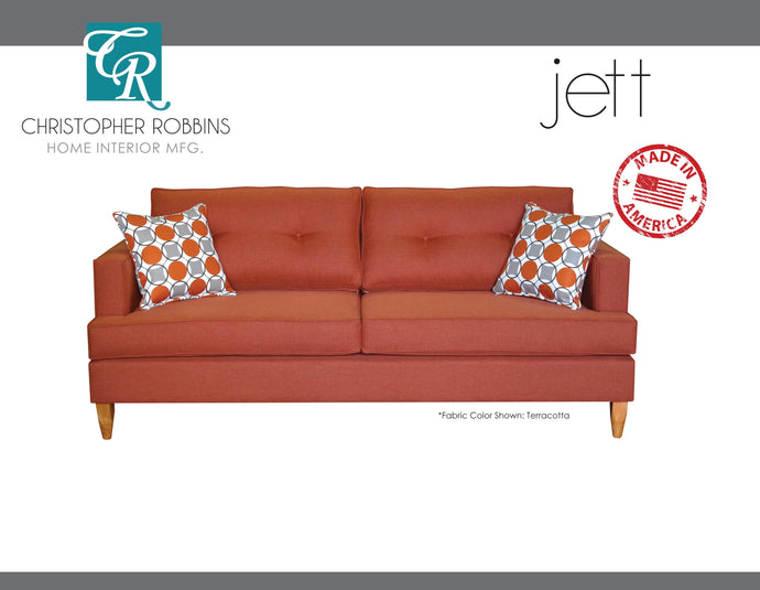 Christopher Robbins Sofa Collection - Custom Fabric Upholstery - Jett Sofa Made In USA - CALL FOR PRICING