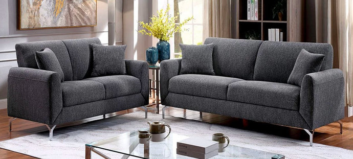 CM6088GY-SF - CM6088GY-LV - Lauritz Sofa and Love Seat Set