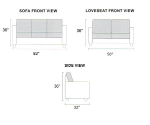 F6909 - Sheldon 2-PCs Sofa Loveseat Set