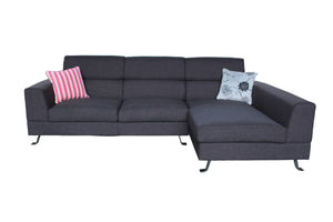 LK-2129-DG Sectional - The-Hom Kileen Dark Gray Finish Linen Sectional Sofa