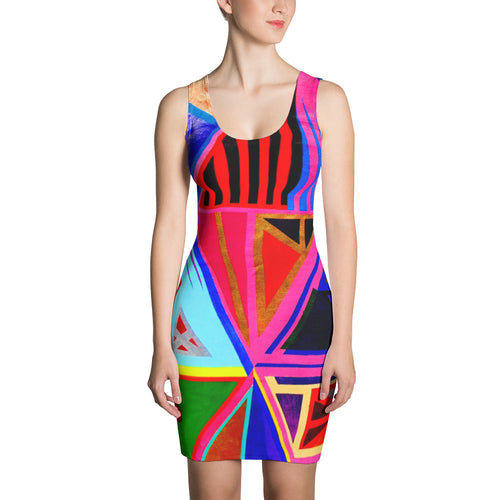 Kente Sublimation Cut & Sew Dress