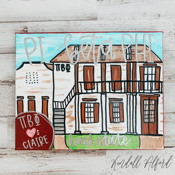 Sorority House Painting - Magnolia Doll
