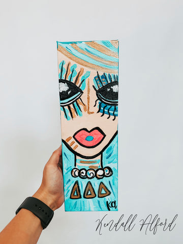 Bid Day Babe Sorority Painting - Magnolia Doll
