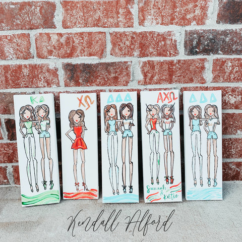 Greek Dolls Sorority Painting - Magnolia Doll