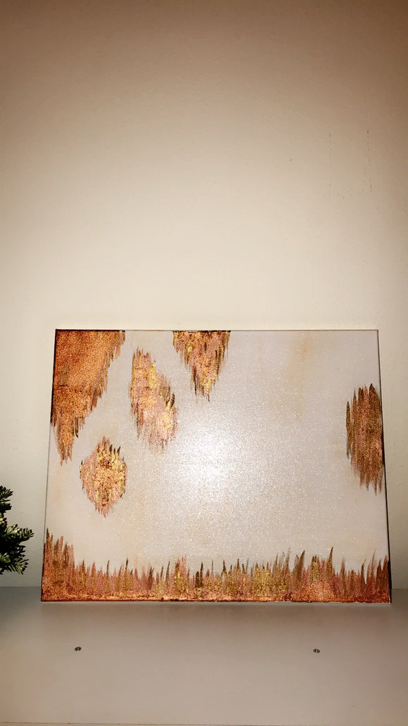 Rose Gold Abstract Painting - Magnolia Doll