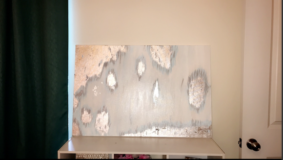 Silver Abstract Painting - Magnolia Doll