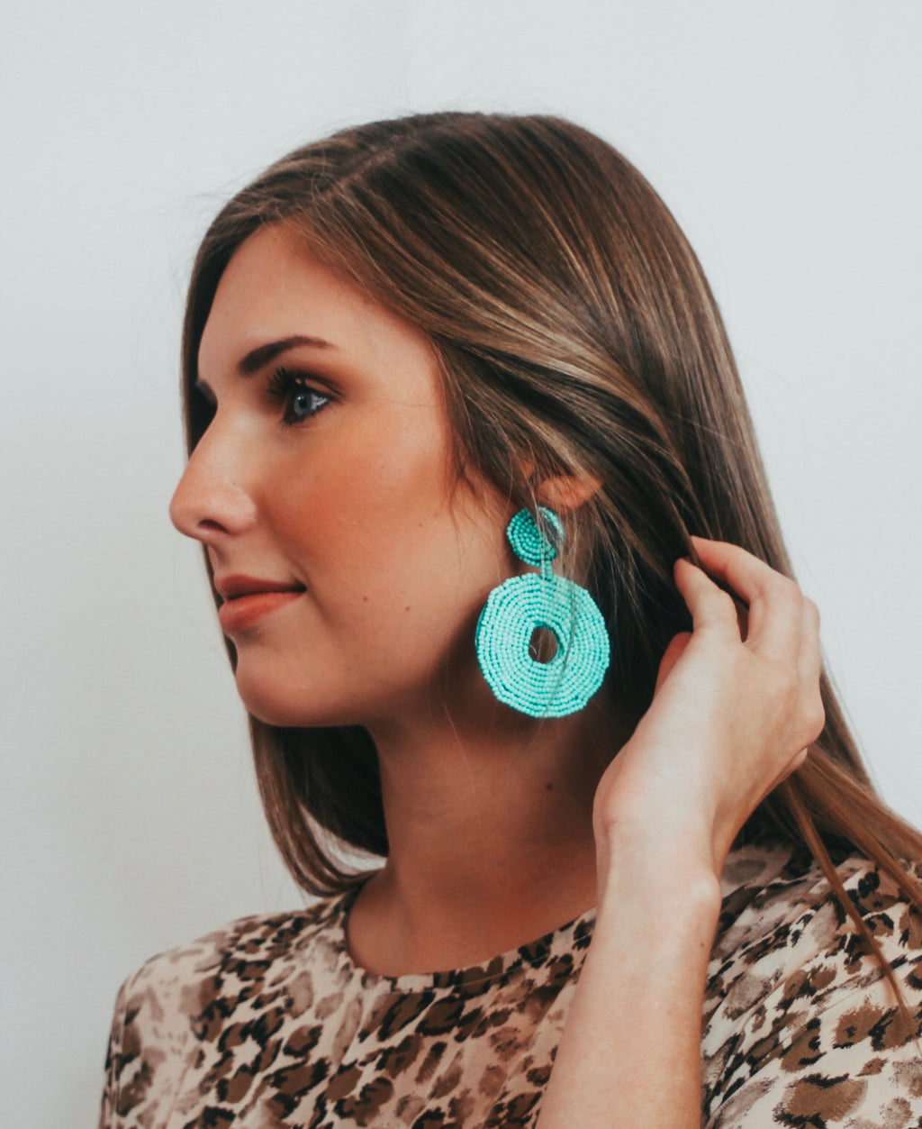 Turquoise disc earrings - Magnolia Doll