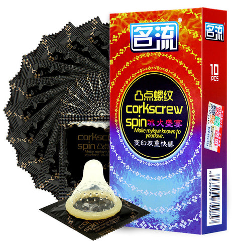 50Pcs Screw Thread Condoms-Cupids Fantasy World