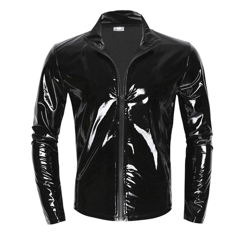 Mens Shiny Long Sleeve Jacket-Cupids Fantasy World