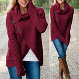 Womens Knitted Long Sleeve Pullover/Jumper