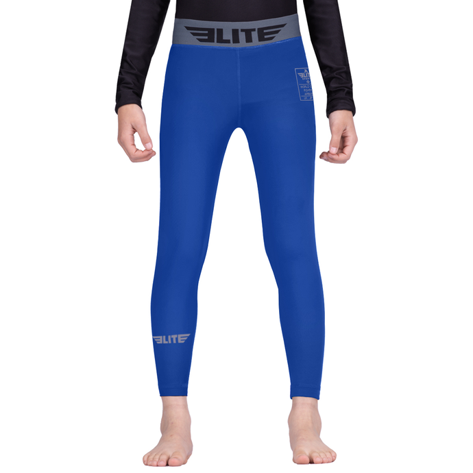 Elite Sports Blue Kids Compression Boxing Spat Pants