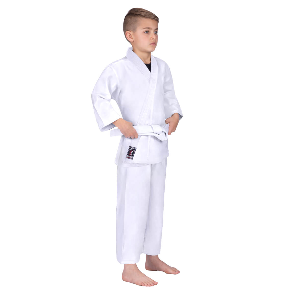 Load image into Gallery viewer, Elite Sports Ultra Light Preshrunk White Kids Karate Gi