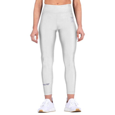 Elite Sports White Women Compression Muay Thai Spat Pants